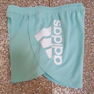 Adidas Girls Mint Green Shorts